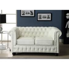 canapé chesterfield blanc chesterfield canapé en cuir et simili 2 places 152x88x75 cm