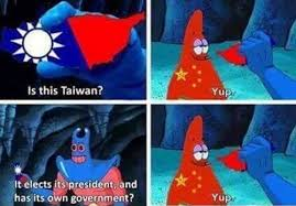 Patrick Star Meme - photo of the day man ray tries to teach patrick star about taiwan