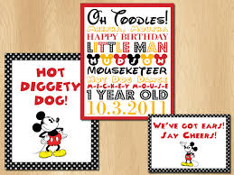 Minnie Mouse Halloween Birthday Party by Mousekersize Theme B Day Party Mickey Mouse Birthday Party Signs