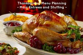 thanksgiving menu planning entrees and