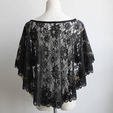 lace accessories black lace wedding bolero ivory women shawl evening capes