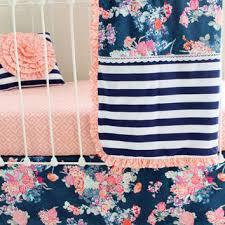 Navy And Coral Crib Bedding Shop Coral Crib Bedding On Wanelo