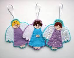 diy felt angel ornaments pdf sewing pattern christmas