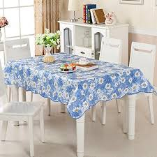 uforme home garden floral waterproof vinyl tablecloth with