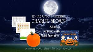 it u0027s the great pumpkin charlie brown addition activity with