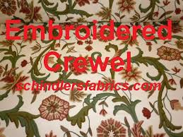 home decorating fabric crewel floral home decorating fabric in color paprika leaf