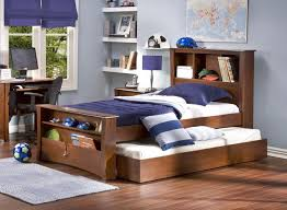 Beds With Bookshelves by Bedroom Pull Ot Bed Unde Bed Be Equipped With Brown Wooden Bed
