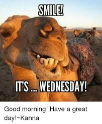 Have A Great Day Meme - smile its wednesday good morning have a great day kanna meme