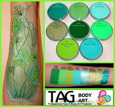 tag colour swatches tag face paints tag body art