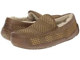 ugg mens sale uk z3k3 mens ugg australia ascot weave chestnut suede slippers ugg 343uk lrg jpg
