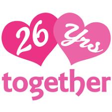 26th wedding anniversary 26th