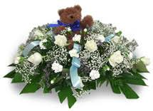 baby casket sympathy casket sprays baby casket spray columbus oh florist