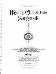 merry christmas songbook christmas carols christmas