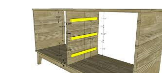 Woodworking Plans For Dressers Free by Free Diy Furniture Plans How To Build A Steppe 6 Drawer Dresser