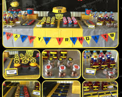transformers birthday decorations transformers printable birthday party package bumblebee