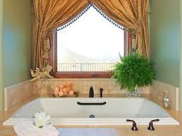 simple curtain for bathroom window curtain for above garden tub