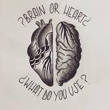 sketch tattoo brain heart hearttattoo hearttattoos inked