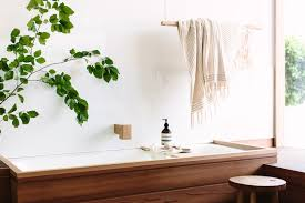 wood melbourne minimalist concrete and timber bathroom fixtures