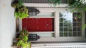 Red Door Paint Painted Front Door In A Bold Red Color Magic Brush
