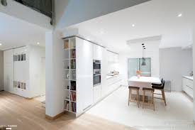 cuisine designer italien projet cuisine design italien total look blanc avec îlot central