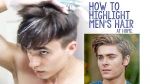 how to highlight men u0027s hair at home youtube