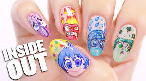inside out nail tutorial disgust sadness joy anger u0026 fear