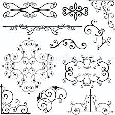 wrough iron ornaments stock vector image of craft exquisite