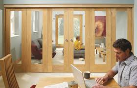 Folding Sliding Doors Interior Folding Sliding Doors Systems Available In Oak Orwhite