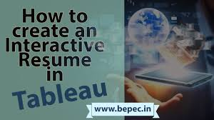 Best Qlikview Resume by How To Create An Interactive Resume In Tableau Bepec Why Data
