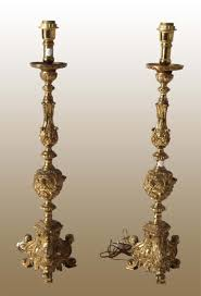 candelieri antichi coppia di candelieri in bronzo dorato centro mercato antiquariato
