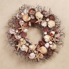 Christmas Wreaths Decorated With Seashells by 46 Best Sea Shell Wreaths Images On Pinterest Seashell Wreath