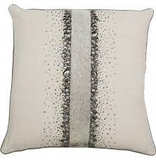 Metallic Cowhide Pillow Modern Throw U0026 Decorative Pillows High Fashion Home