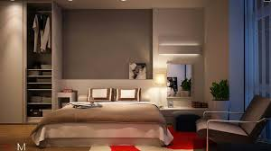 bed design with side table fancy white wooden closet storage added to a bedroom interior design