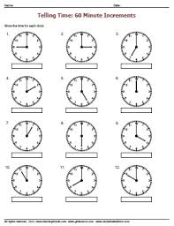 telling time in hour increments worksheetsdirect com