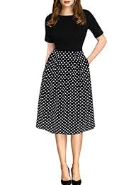 party dress oxiuly women s vintage patchwork pockets swing casual party