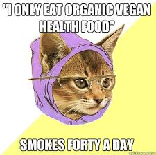 Healthy Food Meme - i only eat organic vegan health food cat meme cat planet cat