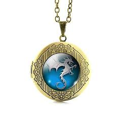 glass locket pendant necklace images Glass cabochon locket pendant necklace the tipsy dragon jpg