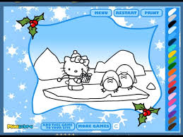 kitty coloring pages merry christmas kitty coloring