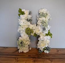 Housewarming Present Diy Floral Letter Homemade Midwest Diy Blog