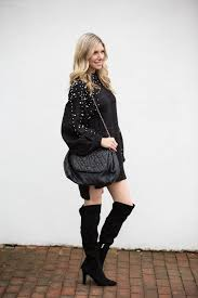 sweater dress and pearl embellished sweater dress the glamorous gal