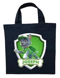 halloween bags paw patrol rocky trick or treat bag personalized paw patrol