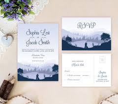 mountain wedding invitations wedding invitations printed lemonwedding