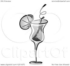cocktail clipart black and white clipart of a grayscale alcoholic cocktail drink royalty free