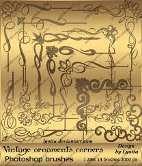 vintage ornaments corners photoshop brushes by lyotta on deviantart