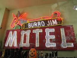close up of vintage arizona neon motel sign burro jim mot u2026 flickr
