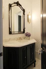 Vanity Powder Room Taupe And Black Powder Rooms Transitional Bathroom