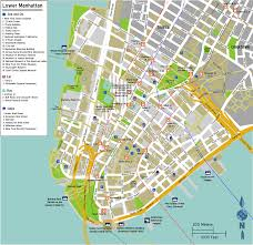 Walking Map Of New York City by Manhattan Downtown Map Montana Map