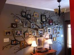 my family wall tree i painted in my foyer