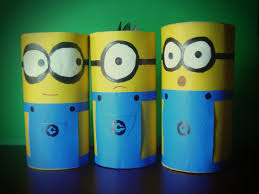 make minions with paper roll youtube