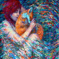unique painting artist paints elaborately colorful scenes using only her fingers